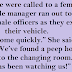 The police were called to a female gym