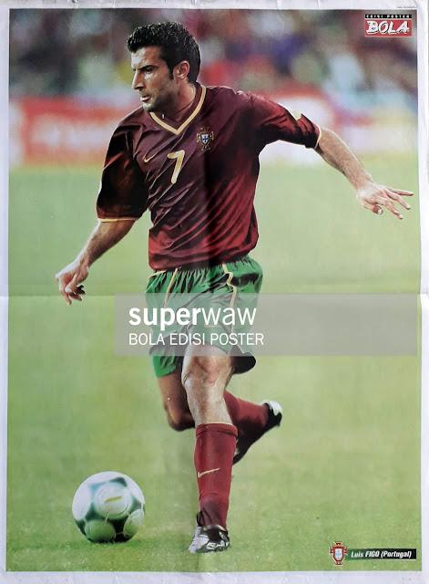 LUIS FIGO OF PORTUGAL ON EURO 2000