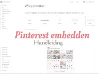 Pinterest embedden - handleiding