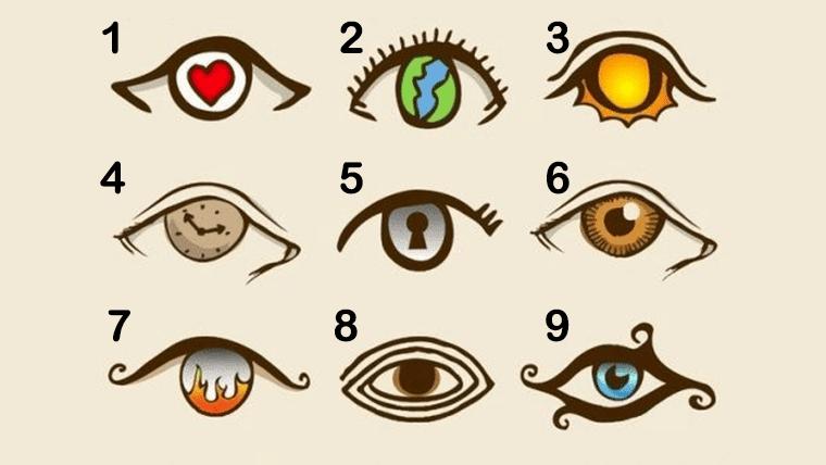 O olho escolhido por você revela sua personalidade!
