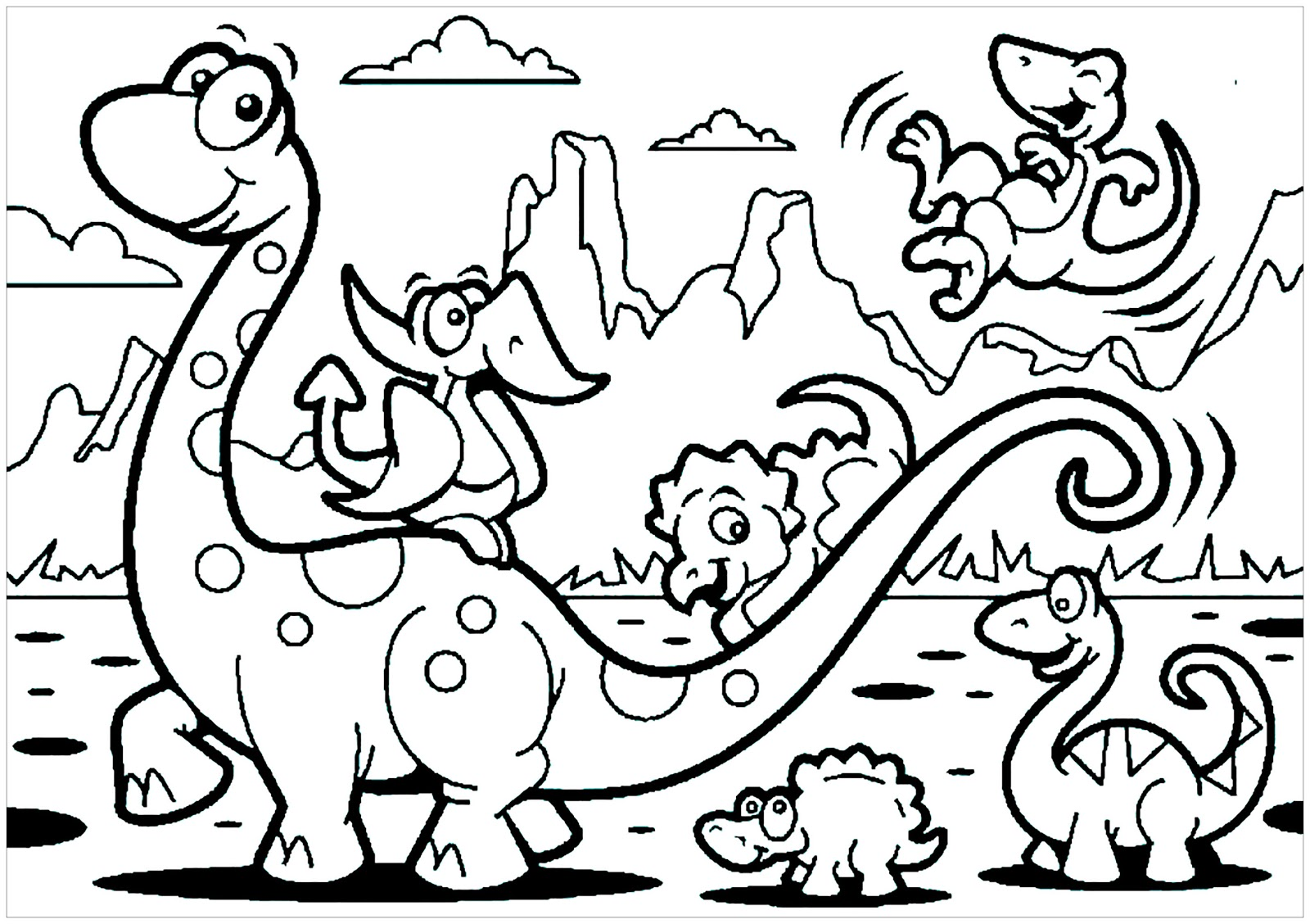 Dinosaurs coloring pages 52