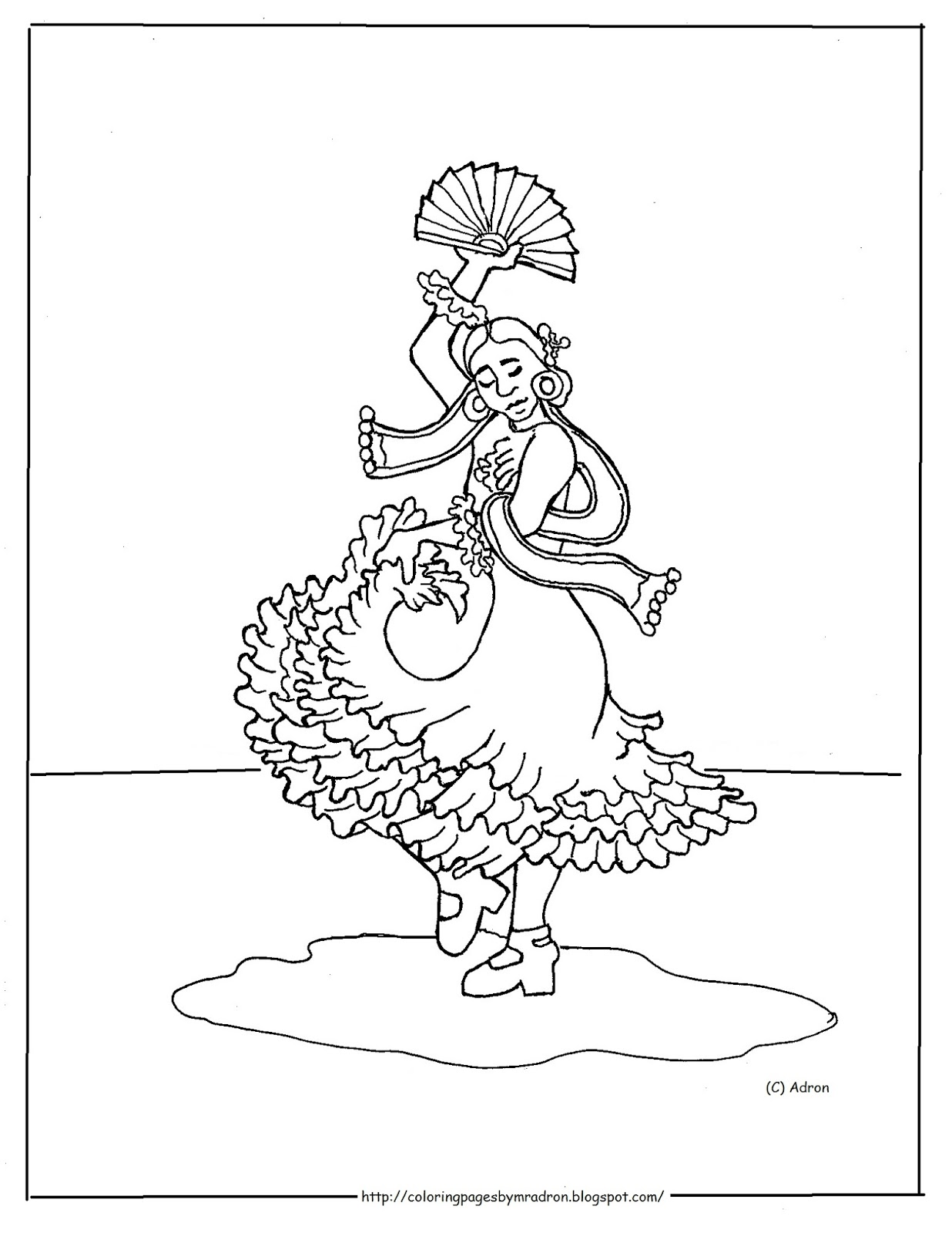 Coloring Pages for Kids by Mr. Adron: Printable Spanish