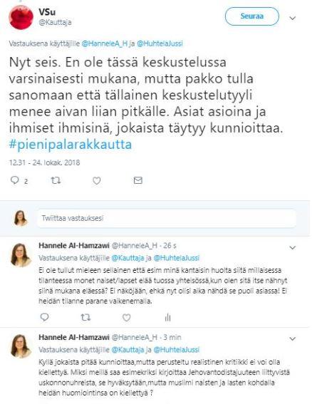Homokeskustelu Suomessa oudolla alueella.