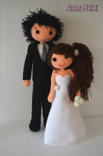 wedding amigurumi boda novios muñecos crochet ganchillo bride groom
