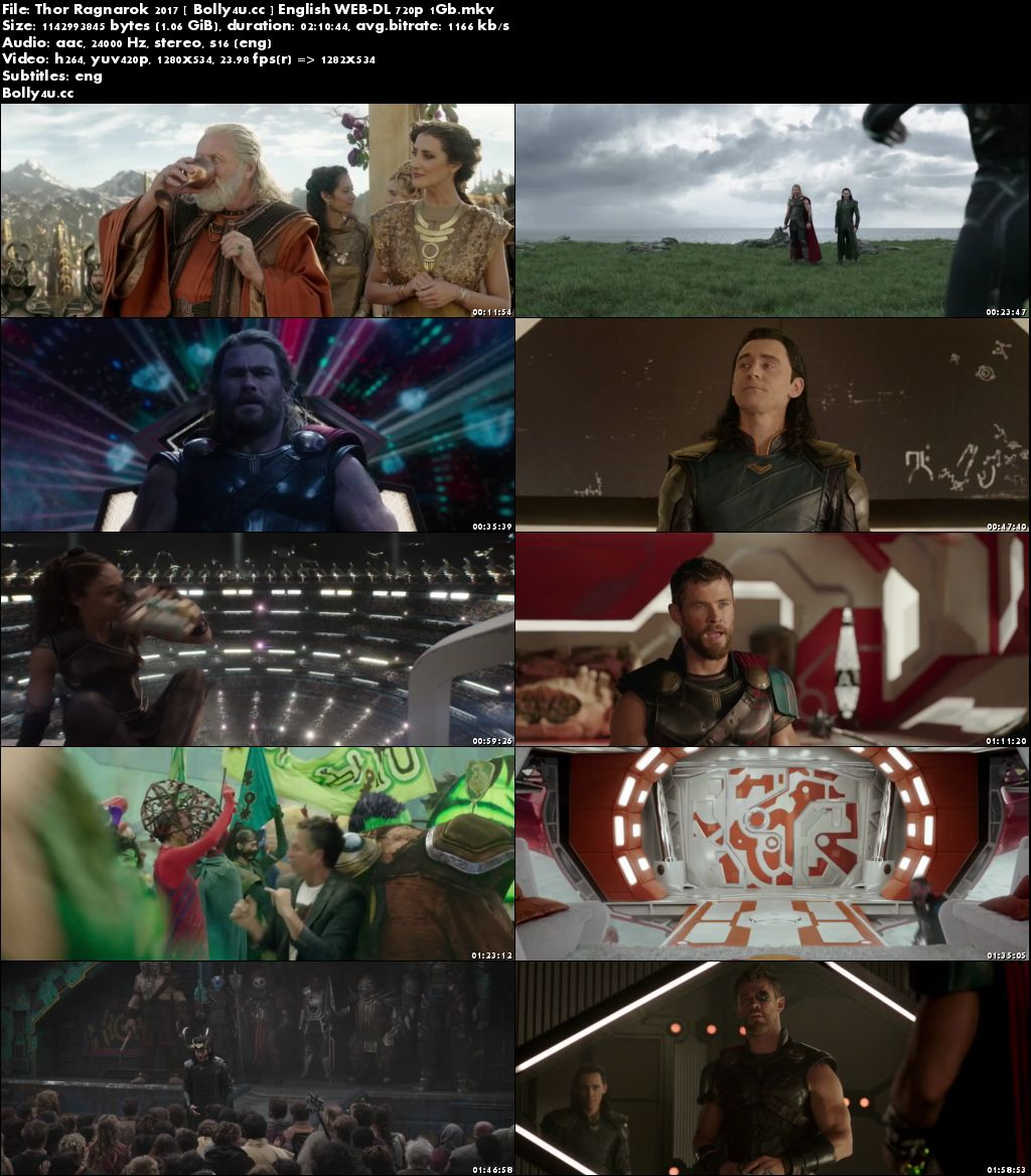 Thor Ragnarok 2017 WEB-DL 1GB English 720p ESub
