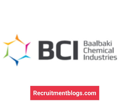 QC Officer At Baalbaki Chemical Industries (BCI)-Science / Chemistry Vacancy