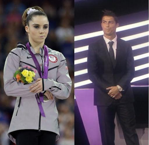 Cristiano Ronaldo does McKayla Maroney impression