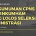Pengumuman CPNS Kemenkumham: Daftar Nama Nama yang Lolos