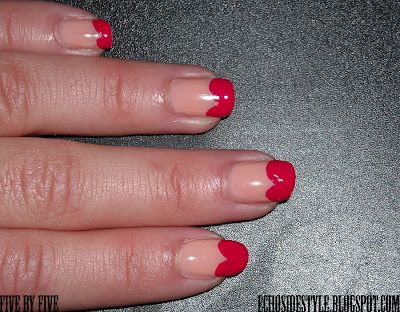 Five By Five Valentine S Day Manicure Opi Quot Coney Island Cotton Candy Quot Amp Essie Quot Watermelon Quot