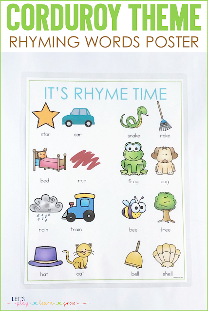 Corduroy: Rhyming Words Poster