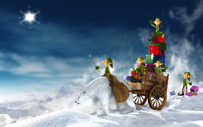 christmas-elves_with_gift_cart_wallpaper