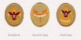 Tenderfoot, Second Class, and First Class