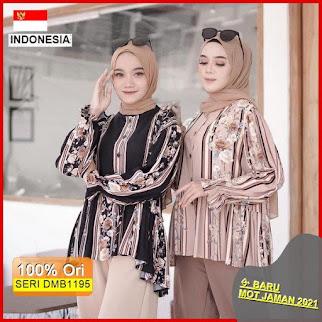 Dmb1195 Fashion Atasan Chand Blouse Rayon Premium Guardian Full Kancing Hits Ootd Wanita
