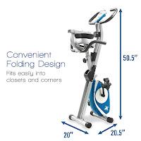 Xterra Fitness FB350 Exercise Bike's folding frame, image