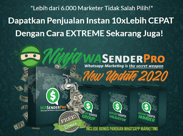 Tingkatkan Penjualan 10x Lipat Dengan Whatsapp Marketing Pro Ninja