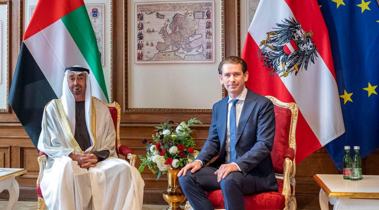 صحف النمسا Austria  تشيد بزيارة محمد بن زايد لتعزيز العلاقات الاقتصادية