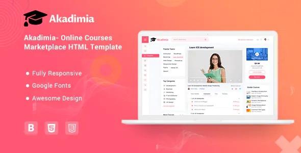 Best Online Courses Marketplace Template