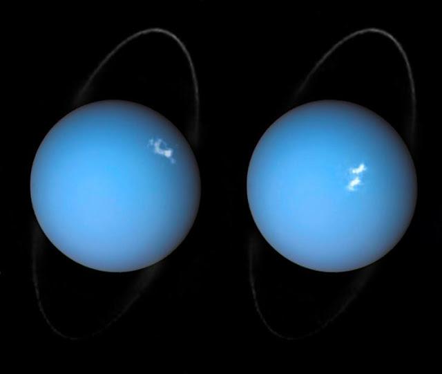 tempestades em Urano