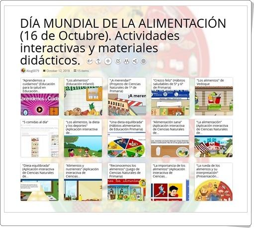 """""""15 Actividades interactivas y materiales didácticos para celebrar el DÍA MUNDIAL DE LA ALIMENTACIÓN"""" (16 de Octubre)"""