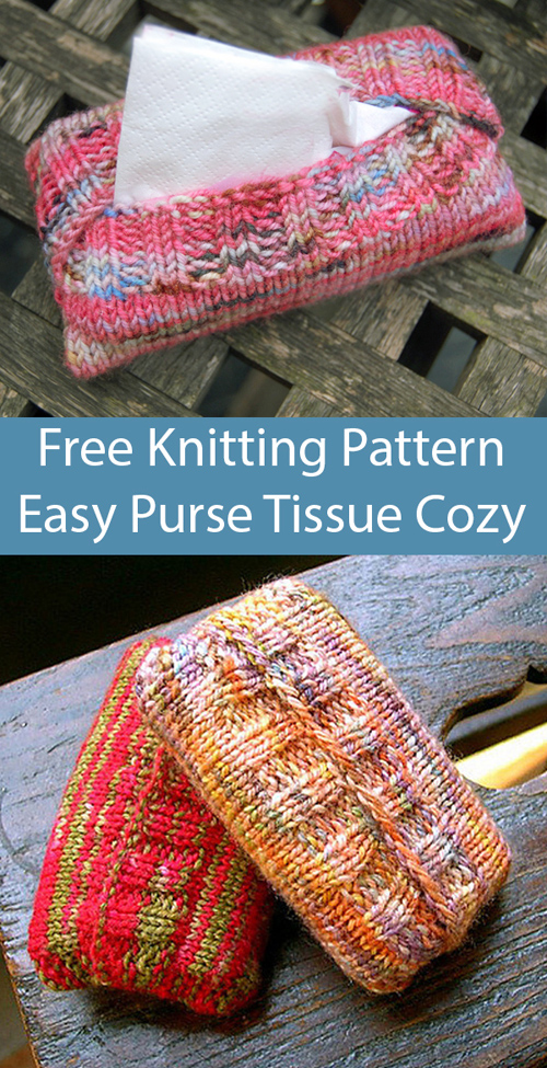 Sweaters for Purse Size Tissue Packets - Free Knitting Pattern