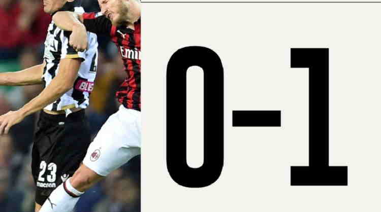 Hasil Udinese vs AC Milan Skor Akhir 0-1