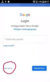 BUAT AKUN google android