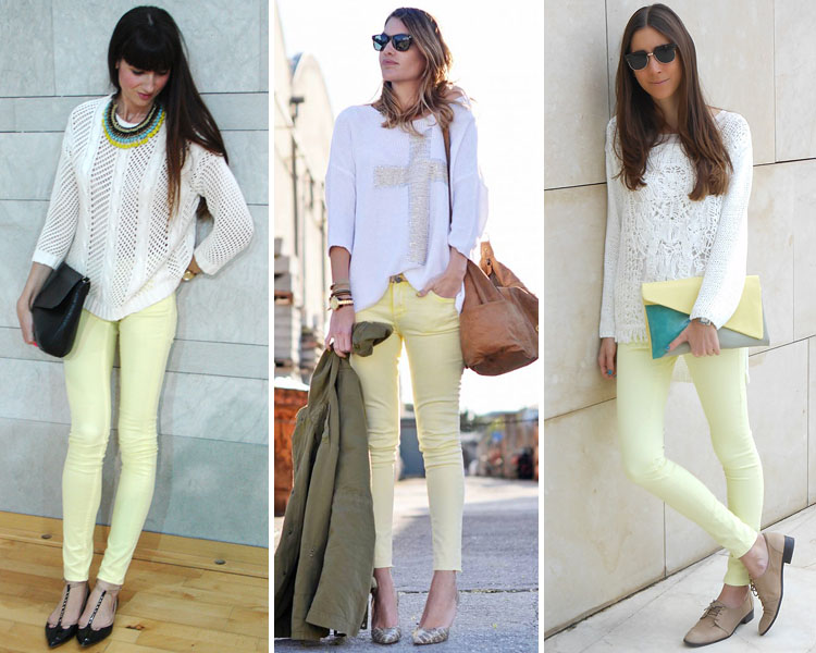 ZARA is the new black: Los pantalones pitillo en color
