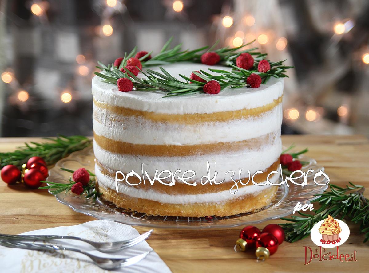 naked cake torta ghirlanda natale feste ricorrenze polvere di zucchero dolcidee rebecchi paneangeli