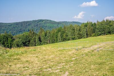 Leśnica i Łysa Góra, widok z Góry Szybowcowej