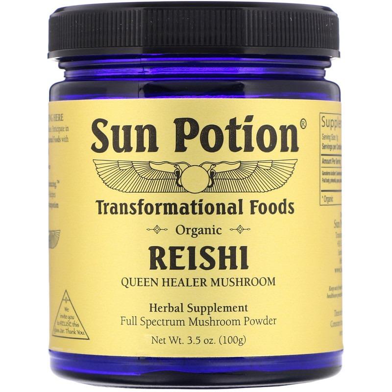 Sun Potion, Органические грибы рейши в виде порошка, 100 г