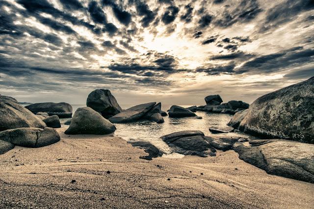 Alba sulla spiaggia del Beluga boutique hotel-Koh Samui