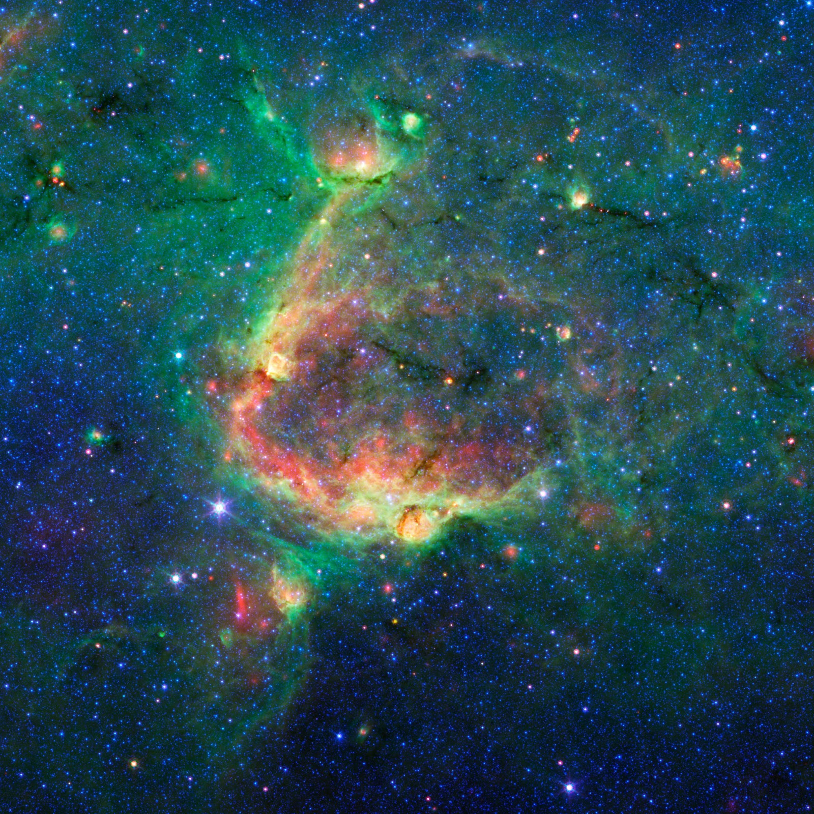 NASA's Spitzer sees Milky Way's blooming countryside - The ...