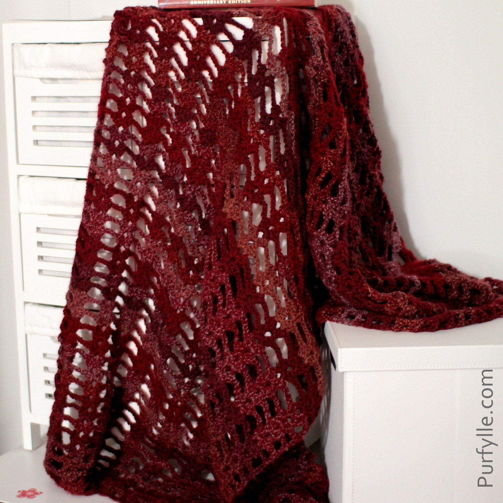 Super Fast Crochet Shawl Pattern