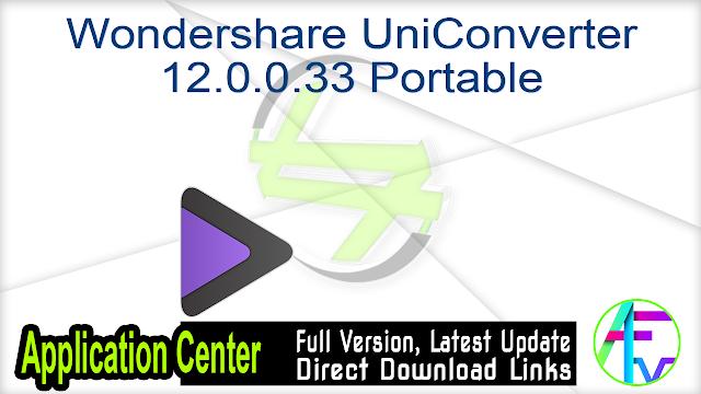 Wondershare UniConverter 12.0.0.33 Portable