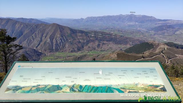 Vista del Pienzu desde el Mirador de Següencu