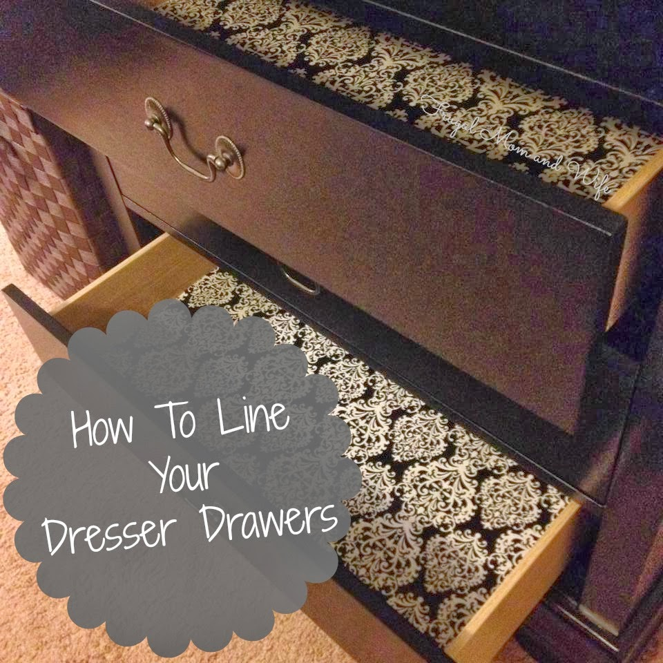 Frugal Mom And Wife How To Line Your Dresser Drawers With