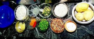 Oats Poha cutlet ingredients
