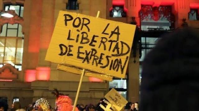 Concentración a favor de la libertad de expresión en Madrid