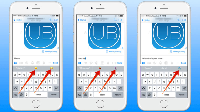 use predictive emojis on iphone