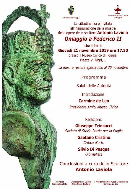 Omaggio a Federico II. Al Museo Civico di Foggia la mostra scultorea in suo onore