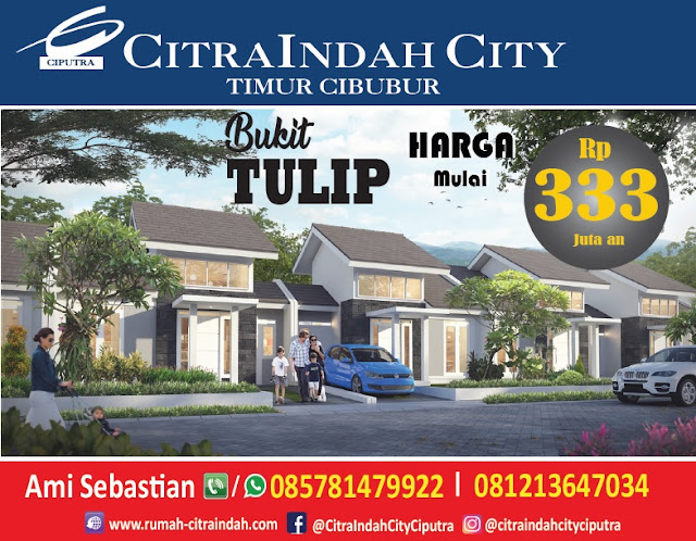 Cluster Bukit TULIP Citra Indah City dipasarkan - Harga mulai 333 Jt an