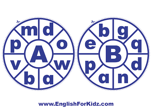 Clothespin letter wheel activity for learning ABC