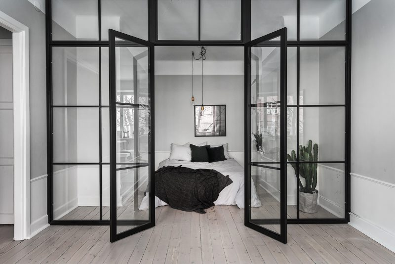 atelier rue verte le blog stockholm une chambre avec verri re. Black Bedroom Furniture Sets. Home Design Ideas