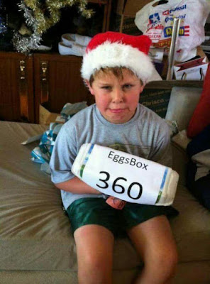 Schlechtes Weihnachtsgeschenk für Kind - Eierbox 360 witzig