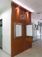 Backdrop Kantor Bahan Multiplek HPL & Pigura Poster Kantor - Furniture Kantor Semarang
