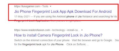 bina app ke jio phone me fingerprints lock kaise lagaaye