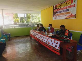 Sosialisasi Covid-19 dan Pemberlakuan PPKM Darurat di Kampung Raduria