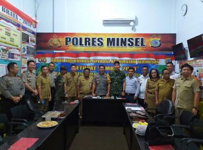 Polres Minsel Bersama Instansi Terkait Bahas Pengamanan Idul Fitri 1440 H