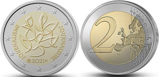 Finland 2 euro 2021 - Journalism