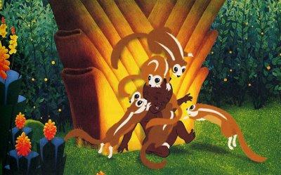 Kirikú con la familia de ardillas - Crítica Kirikú y la bruja.